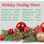 2020-2021 HHMP Holiday Trading Hours